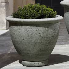 round fiber reinforced concrete angelica outdoor planter hayneedle