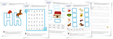 alphabet parade letter h worksheets and activity suggestions