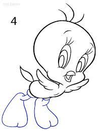 draw tweety bird step step pictures cool2bkids