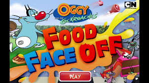 oggy cockroaches food face cartoon network games