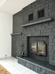 Painted Fireplaces How To Easily Paint A Stone Fireplace Charcoal Grey Fireplace