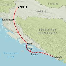 Map Of Croatia And Italy by Croatia Sailing Holidays Tours To Croatia On The Go Tours