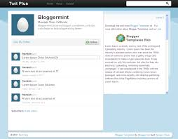 layout of twitter page twit plus twitter inspired blogger template