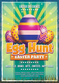 download easter day egg hunt free flyer template