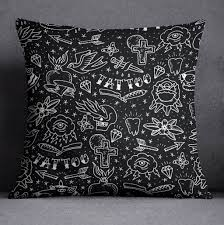 Tattoo Bedding Rockabilly Hand Drawn Tattoo Duvet Bedding Sets Ink And Rags