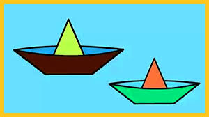 coloring kids color paper boat coloring kids