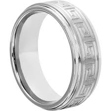 carved wedding bands buy forever metals key men s wedding band with step edges