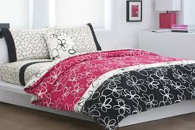 impressive pink and black comforter unique furniture home