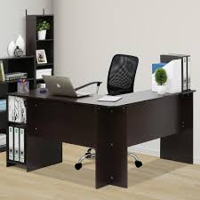 Furinno Laptop Desk by Furinno Indo Espresso L Shaped Desk With Bookshelves 16084ex The