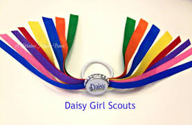 girl scout ribbon girl scout ponytail streamers daisies ribbons pony o girl