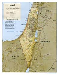 Blank Map Of Israel by Maps Of Israel