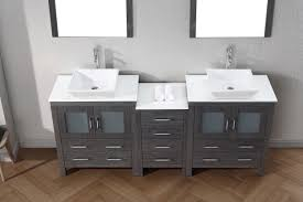 virtu usa dior 78 double bathroom vanity set in zebra grey