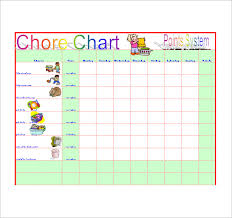 chore list template chore list template