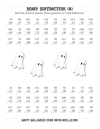 scary subtraction with double digit subtrahends and differences a