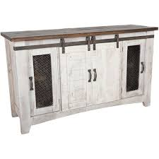 IFDSTAND Puebla Barn Door TV Stand By Artisan Home IFD AFW - Artisan home furniture
