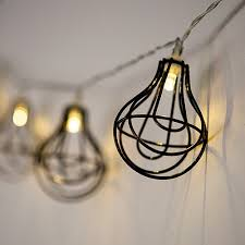 wire light bulb cage string of lights with light bulb wire cage battery led the knot shop
