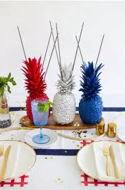 Red White And Blue Home Decor by 4th Of July Pineapple Sparkler Centerpieces Blue Party Red