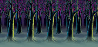 forest backdrop spooky forest trees backdrop decorations props