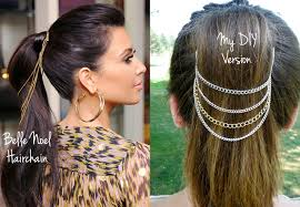 hair chains diy noel ponytail chains