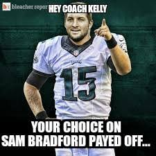 Sam Bradford Memes - 22 meme internet hey coach kelly your choice on sam bradford payed