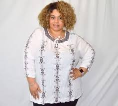 peasant blouse plus size ellos white and brown embroidered peasant blouse 4x plus size ebay