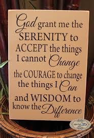 serenity prayer god grant me typography wood wall by signsbyjen