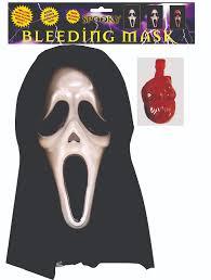 Scream Halloween Costumes Halloween Scream Mask Bleeding Blood Covers Face Fancy Dress