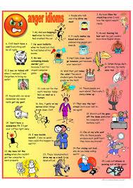 2 free esl anger idioms worksheets