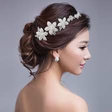 wedding headdress charm rhinestone faux pearl flower headband crown bridal