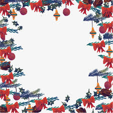 christmas decorative hand painted pattern vector border vector