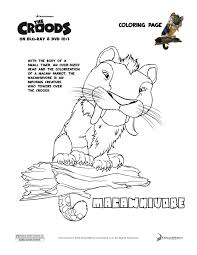 the croods u0027macawnivore u0027 coloring page enter to win a blu ray dvd