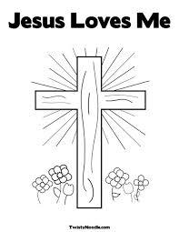 exemstimil coloring pages jesus loves me