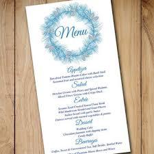 diy wedding menu cards diy wedding menu template instant from paintthedaydesigns on etsy