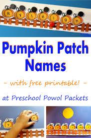 Printable Pumpkin Books For Preschoolers by Preschool Powol Packets