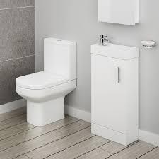 milan compact complete cloakroom suite toilet u0026 vanity unit