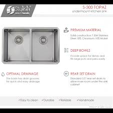 28 inch kitchen sink undermount double bowl 16g stainless steel kitchen sink with grids s