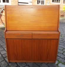 vintage retro 1970s teak bureau writing desk shabby chic needs