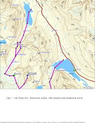 Canmore Canada Map by Wapta Icefields Planning