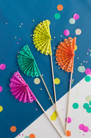 diy paper fans tell diy paper fan drink stirrers tell and party