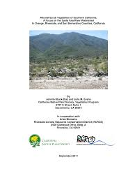 louisiana native plant society alluvial scrub vegetation of southern california a focus on the