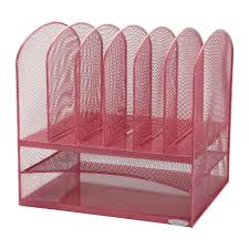 safco onyx mesh desk organizer safco products onyx mesh desk organizer 2 horizontal and 6 upright