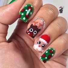 santa and rudolph reindeer nails the crafty ninja