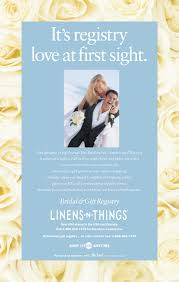 s bridal registry linens n things lnt bridal registry ads mercer design