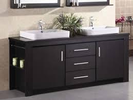 Colorful Bathroom Vanities by Design Element Washington Double Drop In Vessel Sink Vanity Set