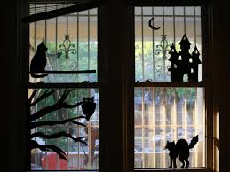 Halloween Kitchen Decor How To Make Halloween Window Silhouettes How Tos Diy