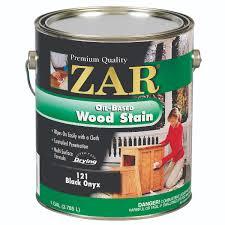 zar black onyx 121 oil based wood stain gallon