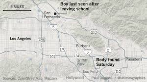 Los Angeles Aqueduct Map by Body Recovered From L A River Identified As Missing Teen Elias