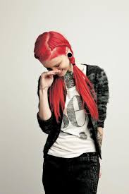 redhair nape shave cool way to hide an undercut sidecut with braids hair with lace
