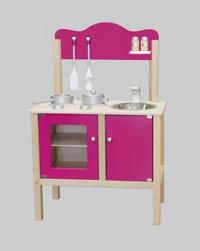 kinder spielküche combi küche kinderküche spielküche pink mit zubehör aus holz