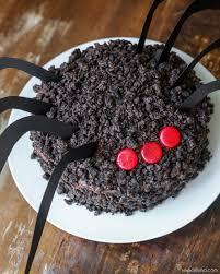 Halloween Cake Graveyard by Chocolate Oreo Spider Cake Lil U0027 Luna